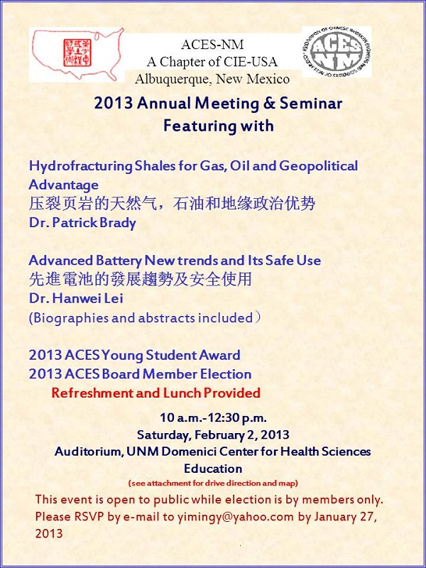 ACES-NM Annual Meeting (2013-02-02)