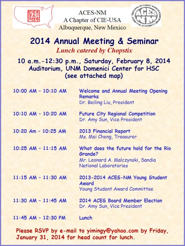 ACES-NM Annual Meeting (2014-02-08)