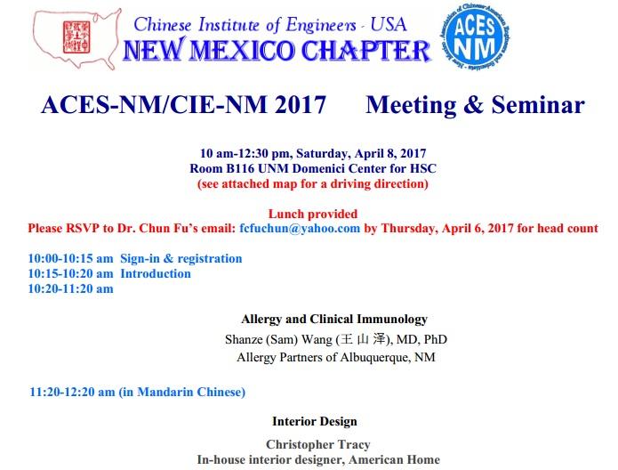 ACES-NM Seminar (2017-04-08)