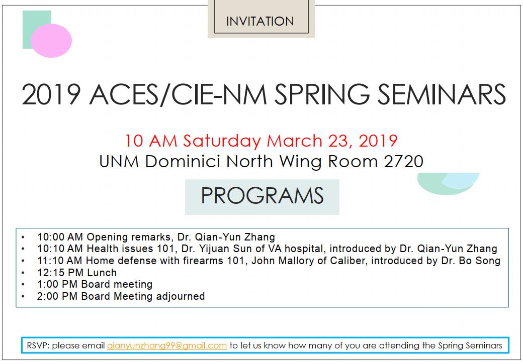 ACES-NM Seminar (2019-03-23)